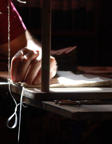 Artesanos de la encuadernación del protocolo notarial